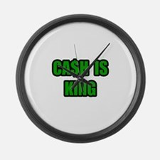 """""""Cash Is King"""" Large Wall Clock"""