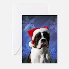 Brindel Boxer Santa Greeting Cards (Pk of 10)