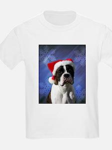 Brindel Boxer Santa Kids T-Shirt