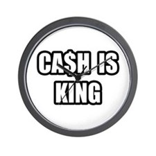 """Cash Is King"" Wall Clock"