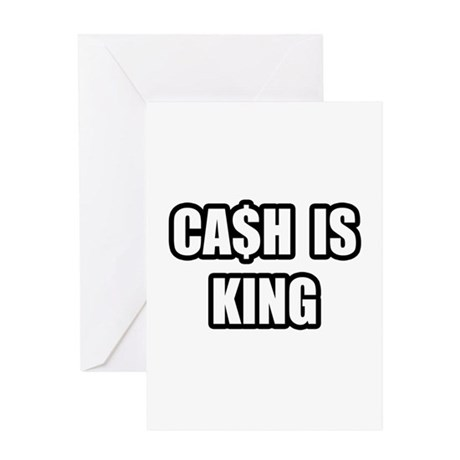 """Cash Is King"" Greeting Card"