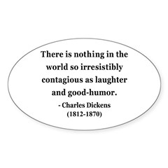 Charles Dickens 13 Oval Decal