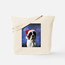 Brindel Boxer Santa Tote Bag