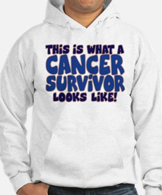 CANCER SURVIVOR (BLUE) Hoodie