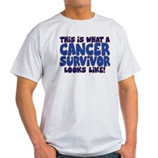 CANCER SURVIVOR (BLUE) T-Shirt