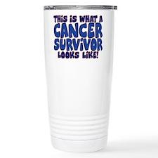 CANCER SURVIVOR (BLUE) Travel Mug