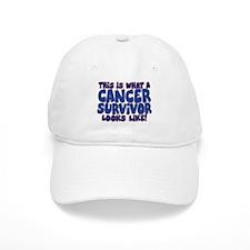 CANCER SURVIVOR (BLUE) Baseball Cap