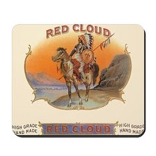 Vintage Cigar Label Art Red Cloud Mousepad