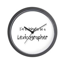 I'm training to be a Lexicographer Wall Clock