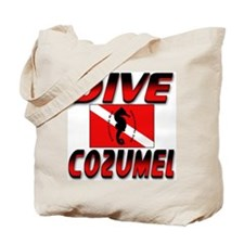 Dive Cozumel (red) Beach Tote Bag