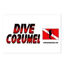 Dive Cozumel (red) Postcards (Package of 8)