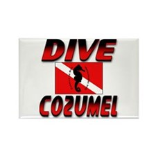 Dive Cozumel (red) Rectangle Magnet