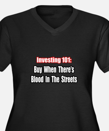 """Blood In The Streets...Buy"" Women's Plus Size V-N"