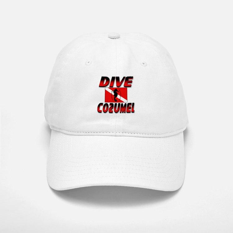 Dive Cozumel (red) Baseball Baseball Cap
