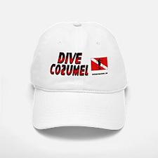 Dive Cozumel (red) Baseball Baseball Cap #2