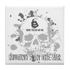 Mutiny's In The Air (Gray) Tile Coaster