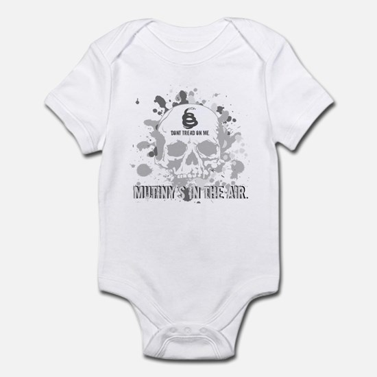 Mutiny's In The Air (Gray) Infant Bodysuit
