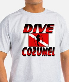 Dive Cozumel (red) Ash Grey T-Shirt