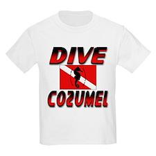 Dive Cozumel (red) Kids T-Shirt