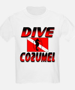 Dive Cozumel (red) Kids T-Shirt