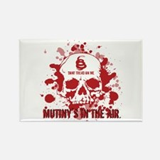 Mutiny's In The Air (Red) Rectangle Magnet