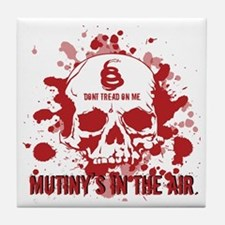 Mutiny's In The Air (Red) Tile Coaster