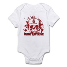 Mutiny's In The Air (Red) Infant Bodysuit