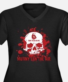 Mutiny's In The Air (Red) Women's Plus Size V-Neck