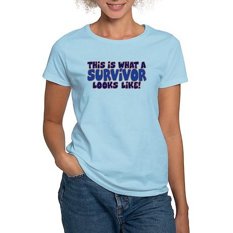 WHAT A SURVIVOR LOOKS LIKE Women's Light T-Shirt
