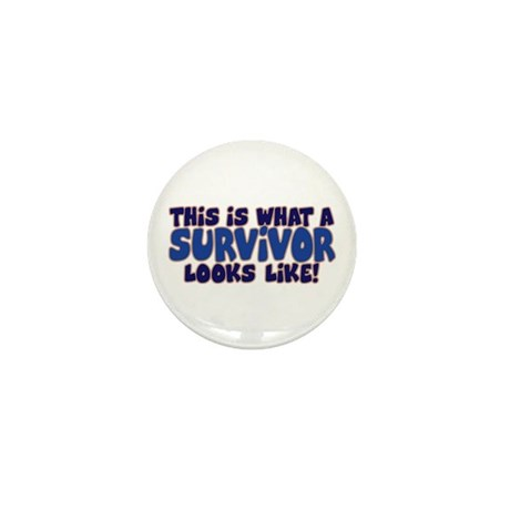 WHAT A SURVIVOR LOOKS LIKE Mini Button (10 pack)