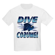 Dive Cozumel (blue) Kids T-Shirt
