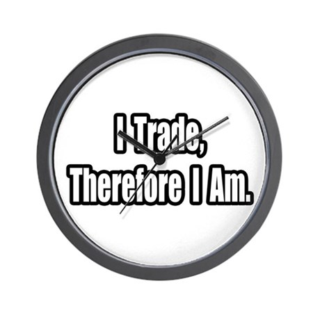 """Stock Trading Philosophy"" Wall Clock"