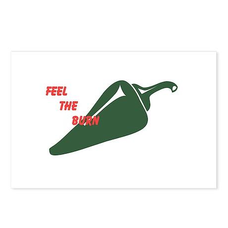 Hot Jalapeno Pepper Burn Postcards (Package of 8)