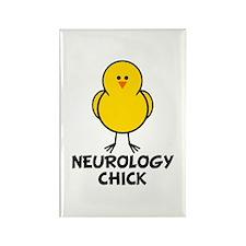 Neurology Chick Rectangle Magnet