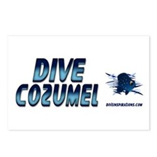 Dive Cozumel (blue) Postcards (Package of 8)