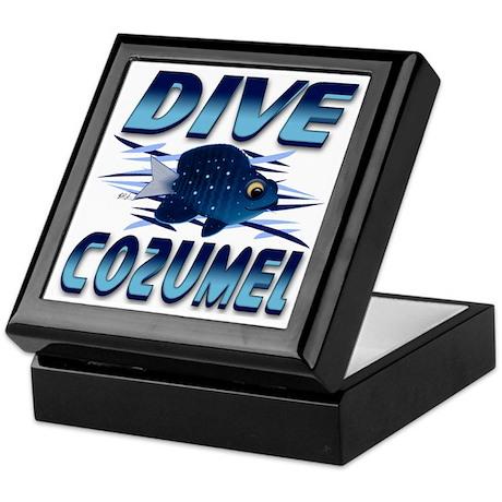 Dive Cozumel (blue) Keepsake Box