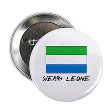 """Sierra Leone Flag 2.25"""" Button"""