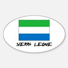 Sierra Leone Flag Oval Decal