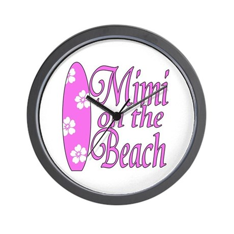 Mimi on the Beach Wall Clock