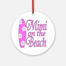 Mimi on the Beach Ornament (Round)