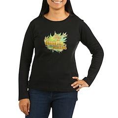 Jesus Got Stoned Women's Long Sleeve Dark T-Shirt