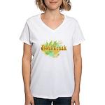 Jesus Freak Women's V-Neck T-Shirt