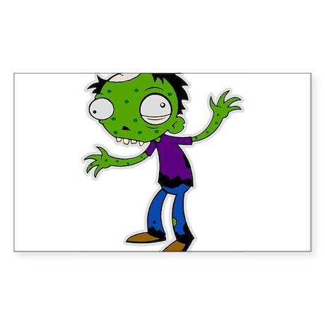 zombie kid Rectangle Sticker