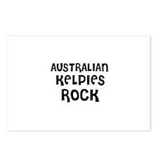 AUSTRALIAN KELPIES ROCK Postcards (Package of 8)
