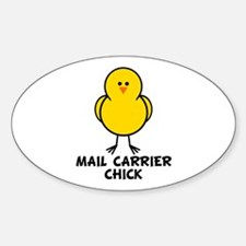 Mail Carrier Chick Oval Decal