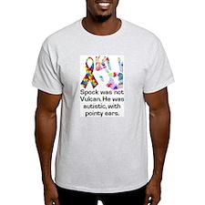 Koy's Logo + Autistics Ash Grey T-Shirt