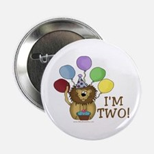 "I'm Two (lion) 2.25"" Button"