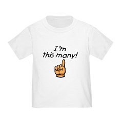 I'm This Many Age One Toddler Tee
