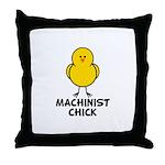 Machinist Chick Throw Pillow