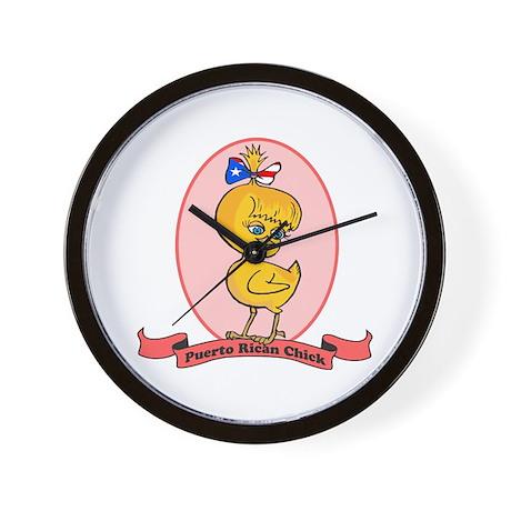 Puerto Rican Chick Wall Clock